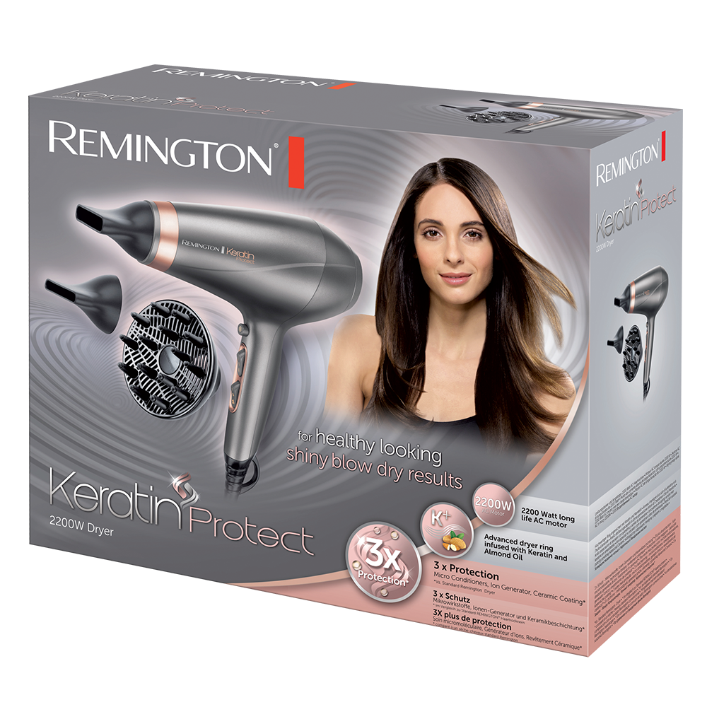 Keratin Protect Sac Kurutma Makinesi 2200 W Remington